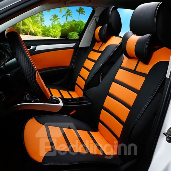 Black And Orange Seat Covers For Cars