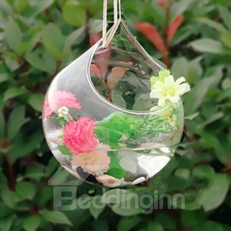 Fantastic Hanging Hand Blown Open Glass Vase