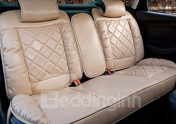 Luxurious And Noble Down Cotton Leatherette Universal Five Car Seat Cover