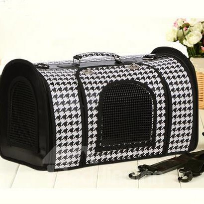Classic White and Black Portable Dog Carriers