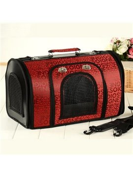 Top Classic English Letters Breathable Portable Dog Carriers
