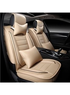 Excellent Popular Design Soft PU Leather Material 10-Piece Universal Car Seat Cover