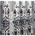 European Style Luxury Exquisite Design Jacquard Grommet Top Curtain