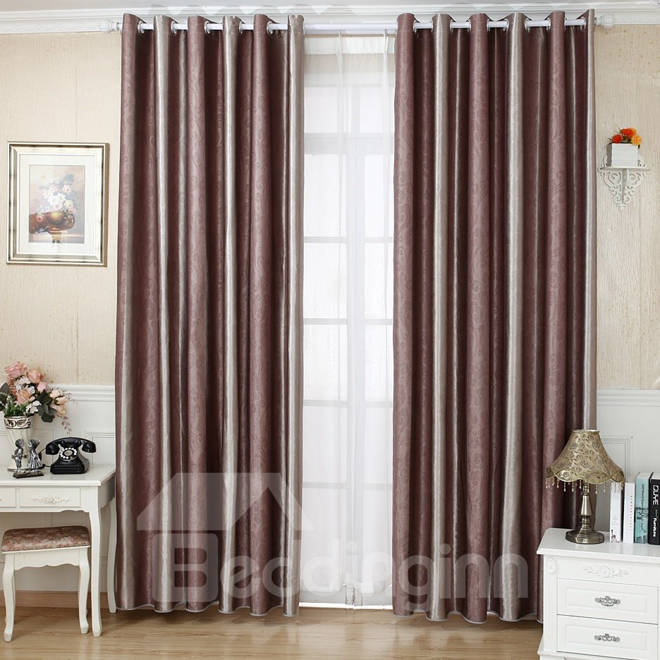Stylish Stripes Design Lignt Blocking Thickening Grommet Top Curtain