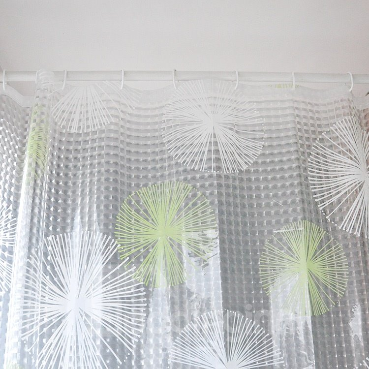 Fashion Translucent Fireworks 3D Shower Curtain