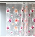 New Style  3D Heart-Shaped Rose Translucent  Shower Curtain