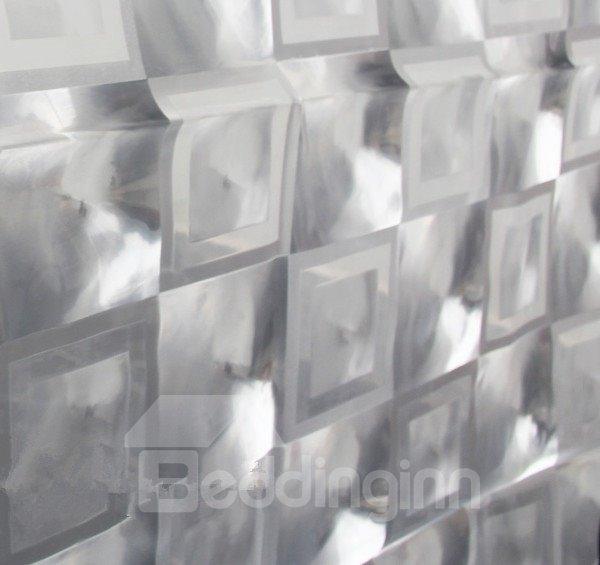 EVA3D Diamond Effect Environmental Protection Shower Curtain