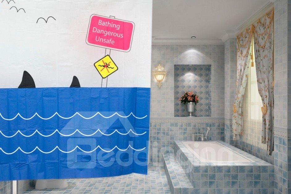 European Style Top Grade Waterproof Thicken 3D Shower Curtain