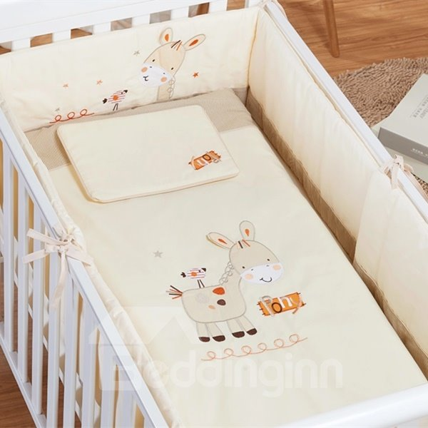 Lovely Smiling Pony 7-Piece Crib Bedding Sets