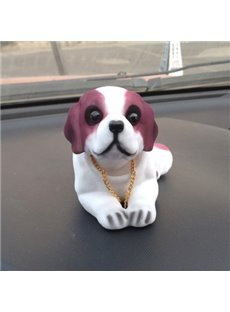 Resin Flocking Shaking Head Cartoon Dog Creative Car Decor
