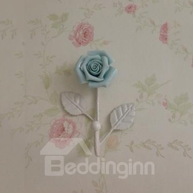 Popular Beautiful Iron Rose Flower Wall Hook