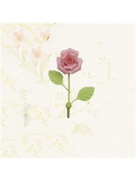Top Selling Double Color Rose Flower Wall Hook