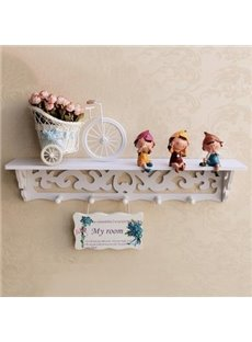 Amazing Dolls 1 Set Wall Shelves with Flower Bicycle and Door Plate