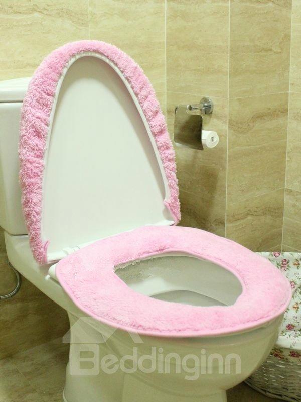 Binary Star Cartoon Plush 2-Piece Toilet Seat Cover