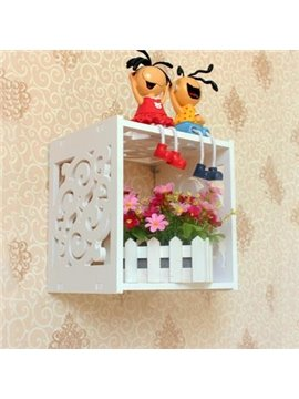Fantastic Wood Plastic Plate Carved Lattice Wall Shelves