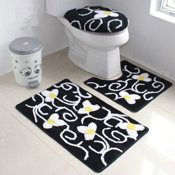 Elegant Fresh European Style 4-Piece Toilet Seat Cover