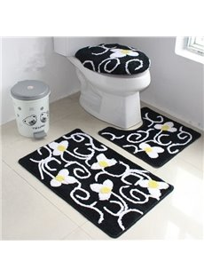Elegant Fresh European Style 4-Piece Toilet Seat Cover