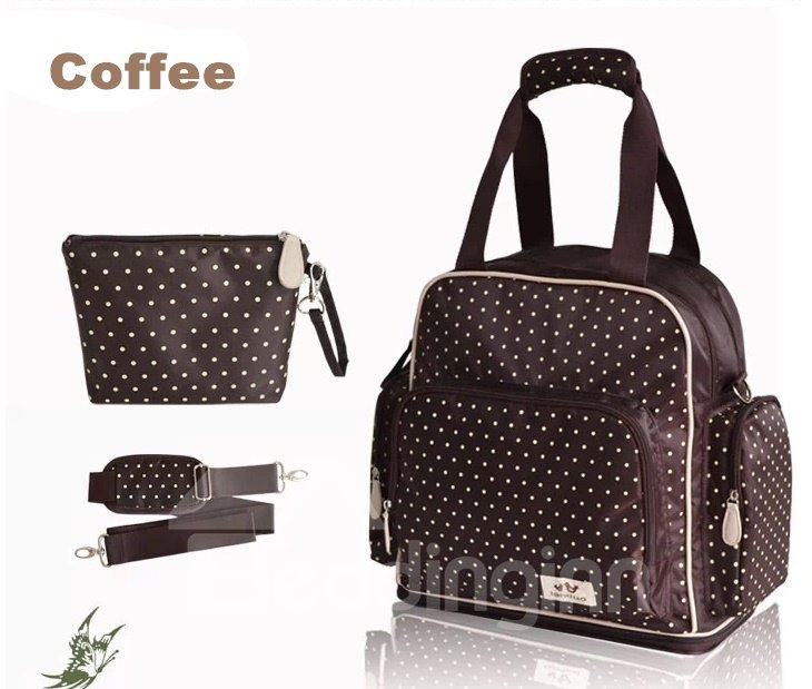 Super Chic Polka Dot Diaper Bag