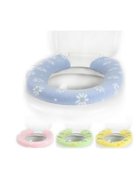 Hot Sale 4 Color Feverfew Button  Toilet Seat Cover