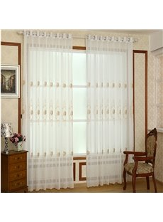 Top Class Chic Embroidery Custom Sheer Curtain