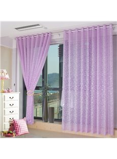 Romantic Purple Living Room&Bedroom Custom Sheer Curtain