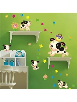 Cheap Lovely Puppy Dog Wall Stickers for Kids
