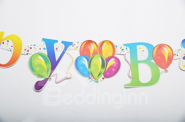 Paper Letters Scroll of Baby and Kids Birthday Decoration