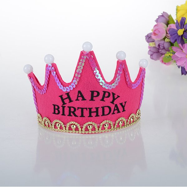 Simple Style Shining Baby Birthday Hat Decoration