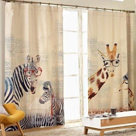 Wonderful Giraffe Zebra Design Kid