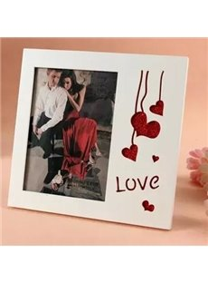 Popular Glitter Heart Shape Desktop Photo Frame