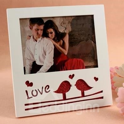 Amazing Inseparable Love Bird with Flash Powder Desktop Photo Frame