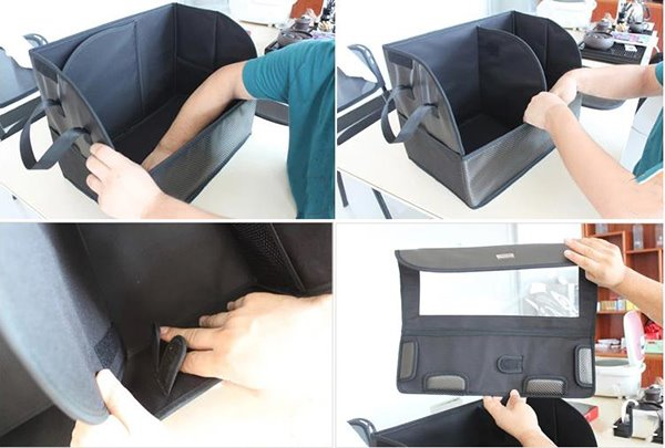 Easy Installation and Separated Inside Environmental Car Trunk Organizer