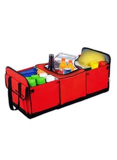 Classic And Magic Red Design High Capacity Oxford Cloth Trunk Organizer