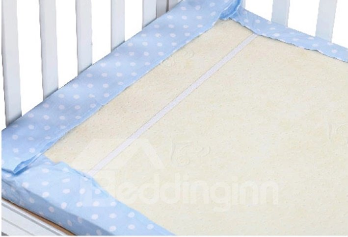 Gorgeous White Polka Dot Baby Crib Fitted Sheet