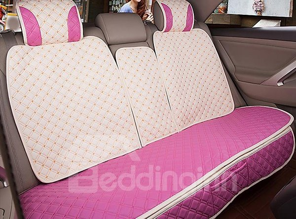 Sweet Decorative And Universal Pu Car Seat Covers