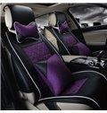 Slip Resistance Comfortable Material Contrast Color Design Car Seat Covers