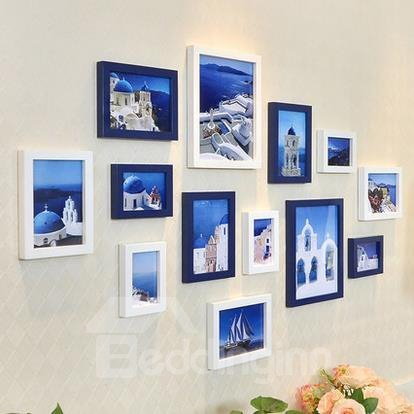 Popular European Style Wood Wall Photo Frame Set