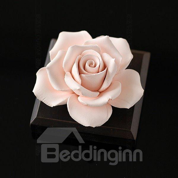 Exquisite Handmade Ceramic Rose Car Fragrance Base