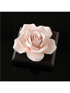 Exquisite Handmade Ceramic Rose Car Fragrance Base