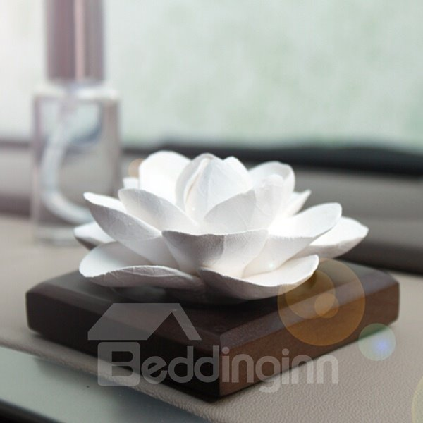 Exquisite Handmade Ceramic Jasmine Car Fragrance Base