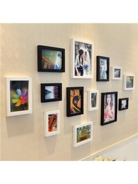 Popular Modern Style Wood Wall Photo Frame Set