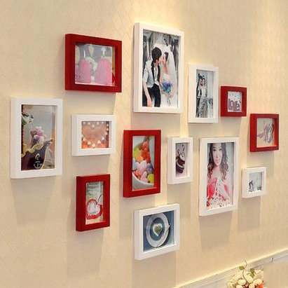Pretty Modern Wood Wall Photo Frame Set for Decoration