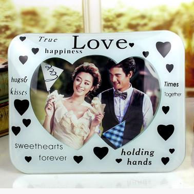 Amazing Full of Love Heart Glass Desktop Photo Frame