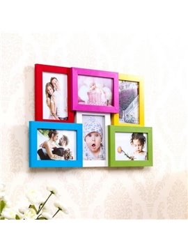 Wonderful Density Board 6-Piece Wall Photo Frame Set