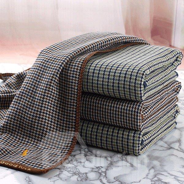 POLO Gauze Looped Pile Europe Type English Grid Bath Towel