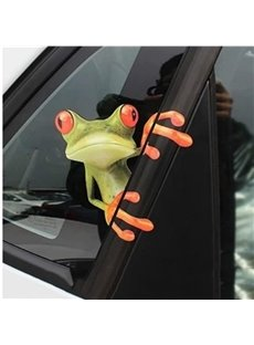 Funny 3D Watching Outside Frog Car Sticker