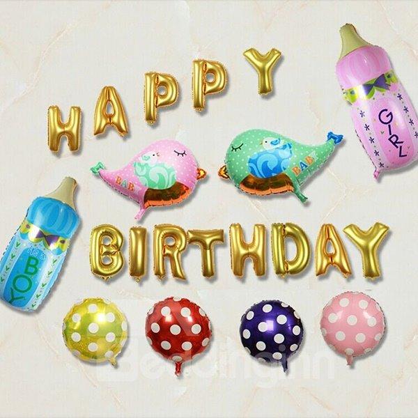 Aluminum Film Baby Birthday Balloons Decor