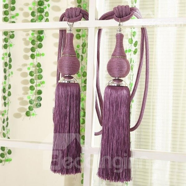 Romantic Purple Decorative Curtain Tiebacks