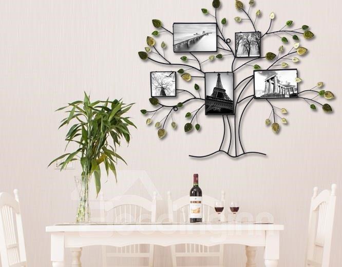 Family Tree Shaped Iron Wall Photo Frame
