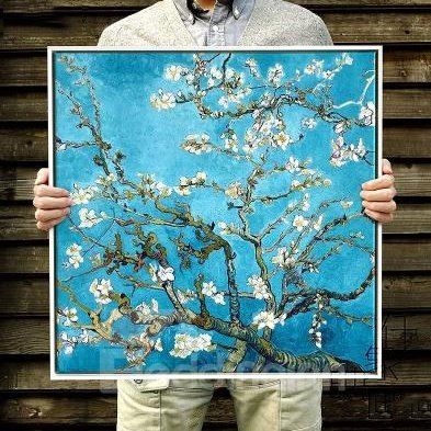 Classic Apricot Flower Van Gogh Print for Decoration Framed Wall Prints